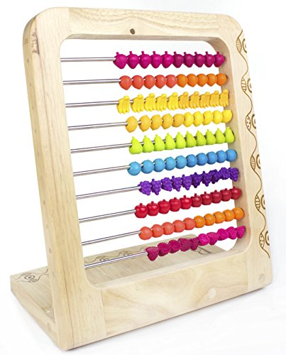 B-Toys-Fruit-Abacus-For-Basic-Mathematical-Operations-Vibrantly-Colored-Fruit-Beads-Safe-Construction-100-Total-Beads-For-Ages-3-and-Up-0