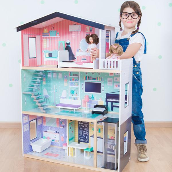Mansi n de casa de mu ecas de moda xl kukut joguines - Casa de barbie con ascensor ...