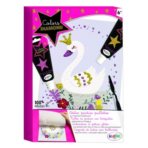 Kit-Creatif-aladine-Colors-Diamond-Atelier-peinture-paillettes-Cygne