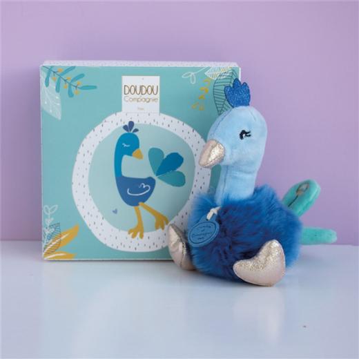 doudou-et-compagnie-peluche-15cm-animaletti-dello-zoo-doudou-pavone-dc3526