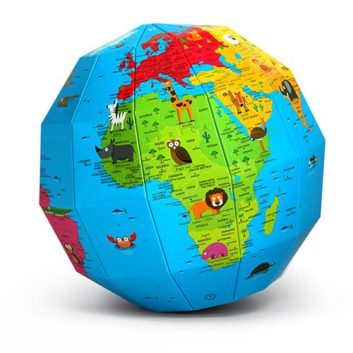 ZEMIRO Paper Globe _World of Animals__1